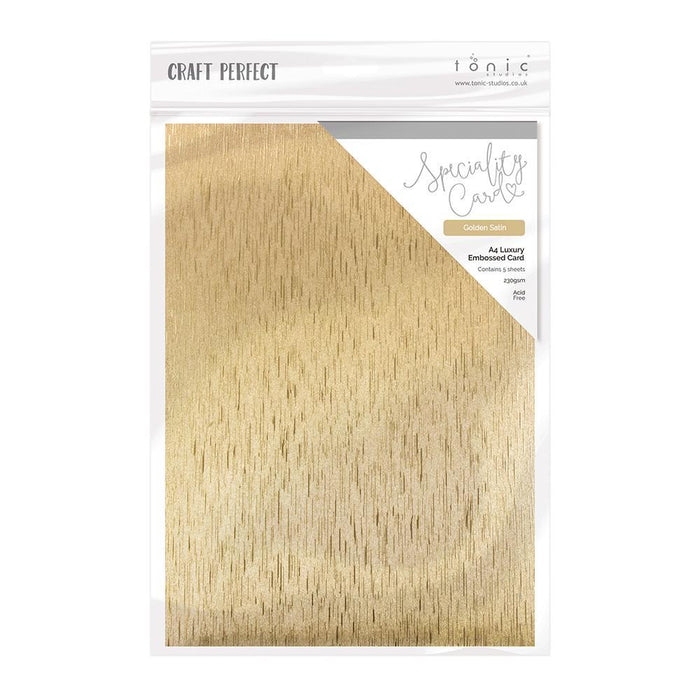 Craft Perfect Luxury Embossed Card Craft Perfect - Speciality Card - Luxury Embossed - Golden Satin - A4(5/PK) - 230gsm - 9828e
