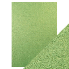 Craft Perfect Luxury Embossed Card Craft Perfect - Speciality Card - Luxury Embossed - Green Leaves - A4(5/PK) - 230gsm - 9844E