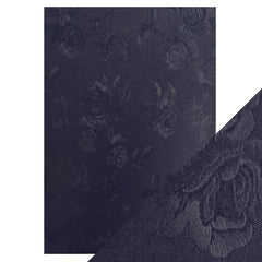 Craft Perfect Luxury Embossed Card Craft Perfect - Speciality Card - Luxury Embossed - Navy Toile - A4(5/PK) - 230gsm - 9845e
