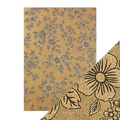 Craft Perfect Luxury Embossed Card Craft Perfect - Speciality Card - Luxury Embossed - Umber Etching - A4(5/PK) - 230gsm - 9833e