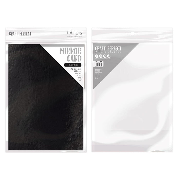 Craft Perfect Mirror Card Craft Perfect - Glossy Black Mirror Card Craft Perfect - Mirror Card - Glossy Black A4 - 9444E