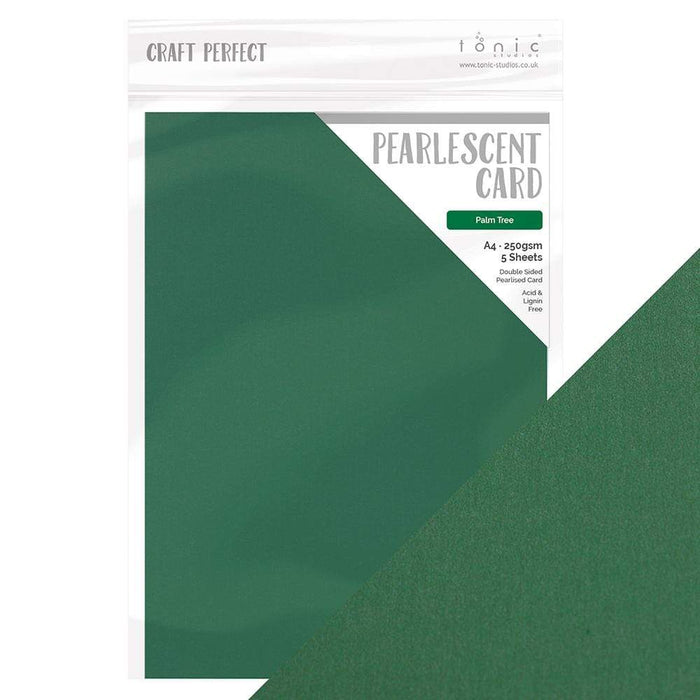 Craft Perfect Pearlescent Card Craft Perfect - Pearlescent Card - Palm Tree - A4 (5/PK) - 9516e