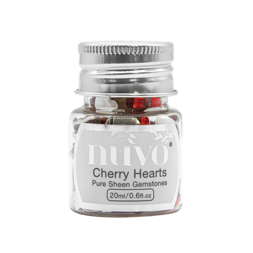 Nuvo Gemstones Nuvo - Pure Sheen Gemstones - Cherry Hearts - 1400n