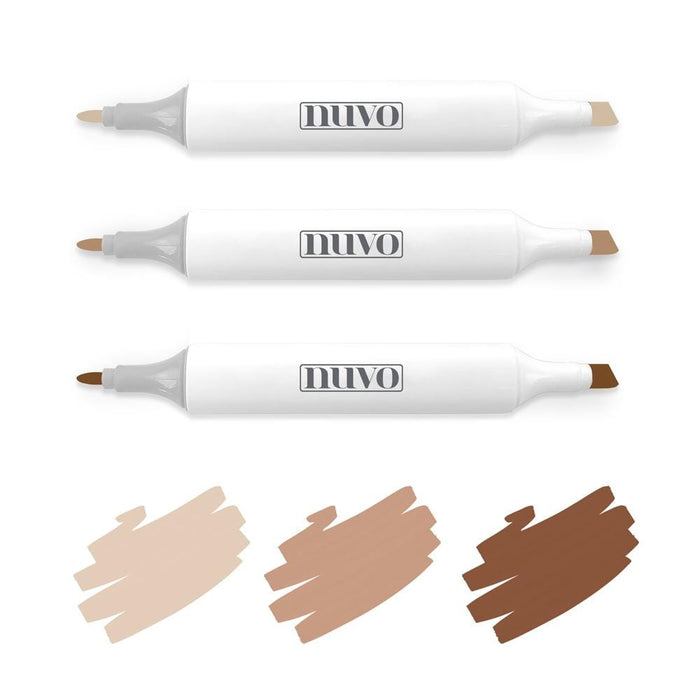 Nuvo Pens and Pencils Nuvo - Marker Pen Collection - Cookies & Cream - 3 Pack - 329N