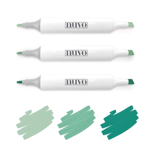 Nuvo Pens and Pencils Nuvo - Marker Pen Collection - Emerald Seas - 3 Pack - 334N