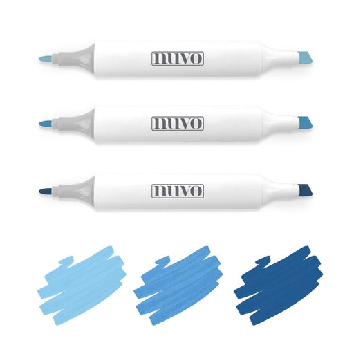 Nuvo Pens and Pencils Nuvo - Marker Pen Collection - Marina Blues - 3 Pack - 314N