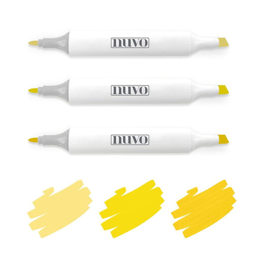 Nuvo Pens and Pencils Nuvo - Marker Pen Collection - Sunshine Yellow - 3 Pack - 312N