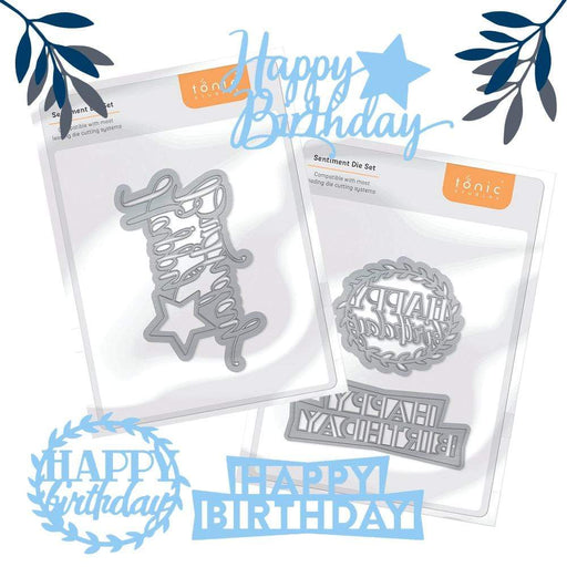 Tonic Studios bundle Tonic Studios - Happy Birthday Sentiments Bundle - WED337