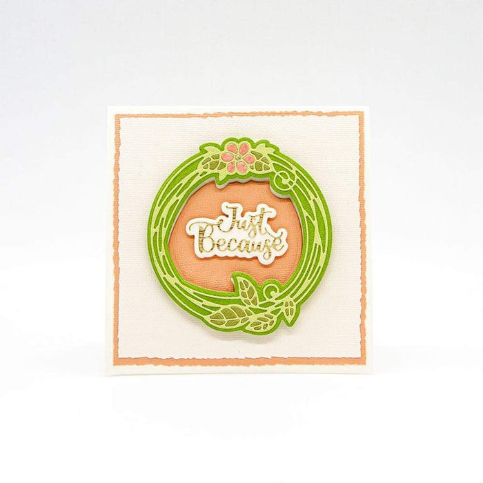 Tonic Studios Die Cutting Tonic Studios - Floral Scribble Circle - 3828E