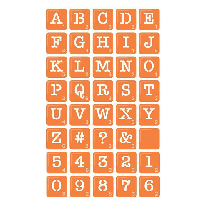 Tonic Studios Die Cutting Tonic Studios - Gaming Tiles Alphabet Die Set - 3607e