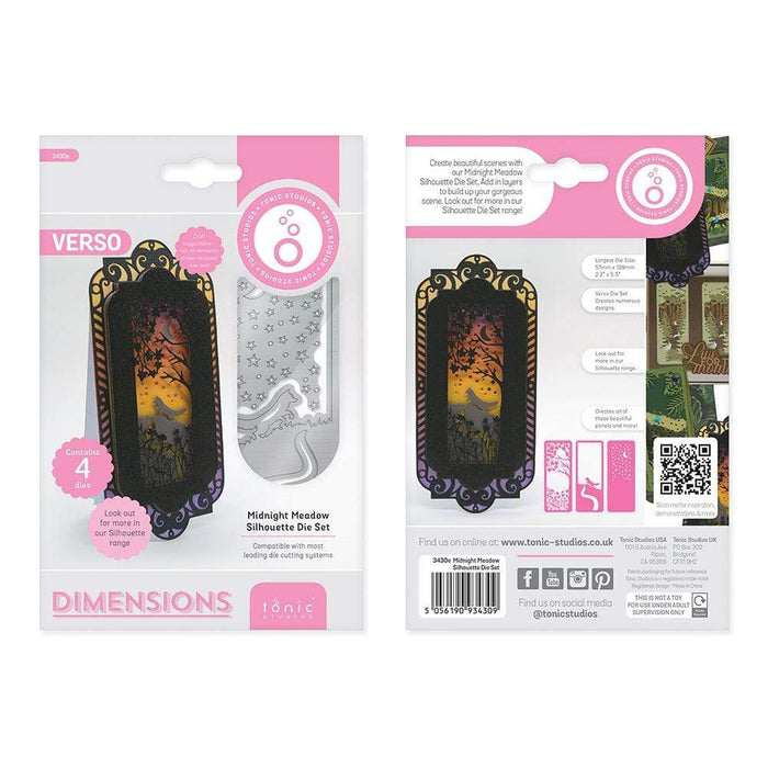 Tonic Studios Die Cutting Tonic Studios - Midnight Meadow Silhouette Die Set - 3430E
