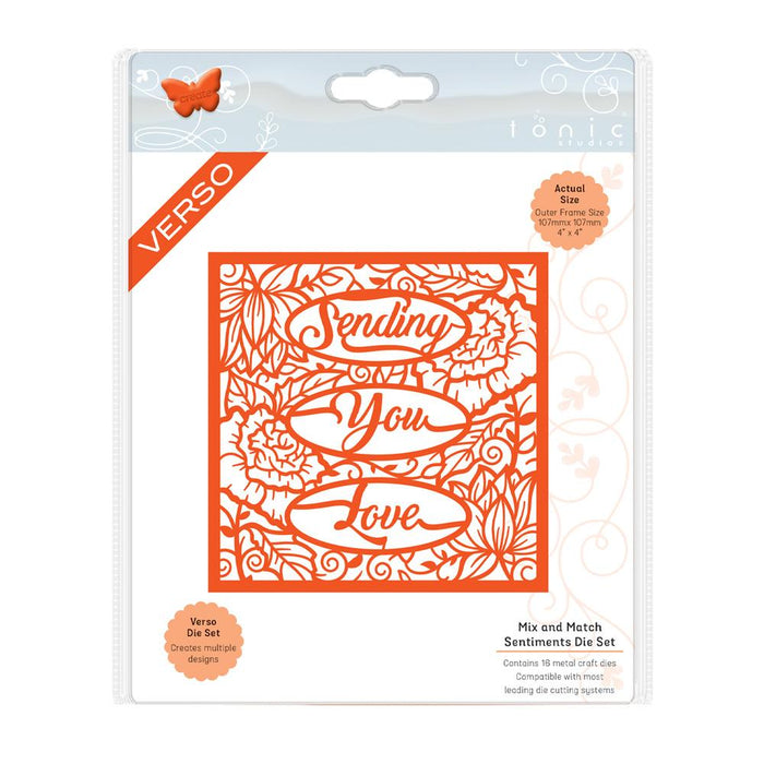 Tonic Studios Die Cutting Tonic Studios - Mix and Match Sentiments Die Set - 2707e