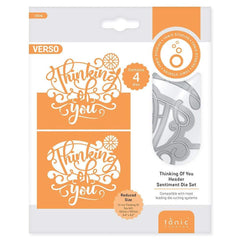 Tonic Studios Die Cutting Tonic Studios - Thinking of You Header Fold Die Set - 3934E