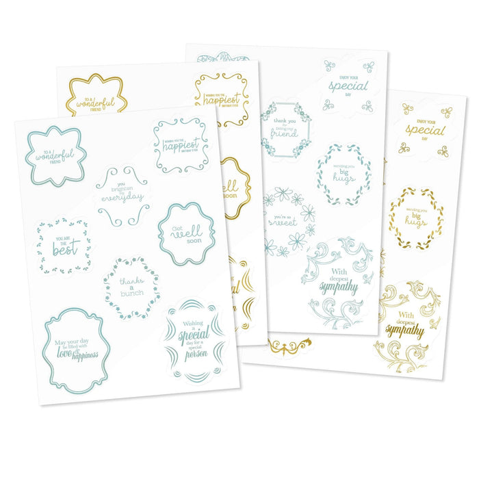 Tonic Studios Die Cutting Tonic Studios - Topper Packs - Special Sentiment Foil Topper Pack - 3257E