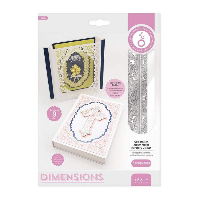 Tonic Studios Dimensions Tonic Studios - Dimensions - Celebration Album Maker Heraldry Decoration Die Set - 3083E