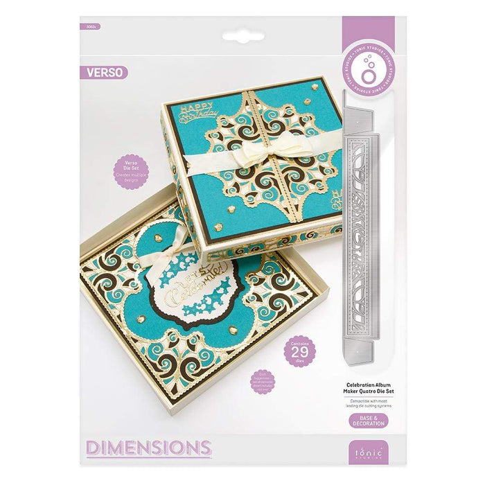 Tonic Studios Dimensions Tonic Studios - Dimensions - Celebration Album Maker Quatro Die Set - 3082E