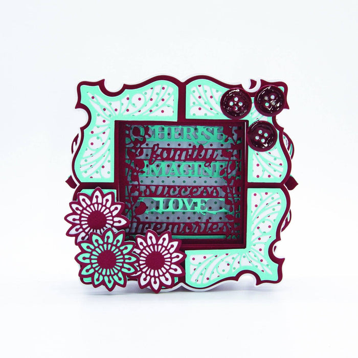 Tonic Studios Dimensions Tonic Studios - Dimensions - Cherished Sentiments Shadow Frame Die Set - 2655E