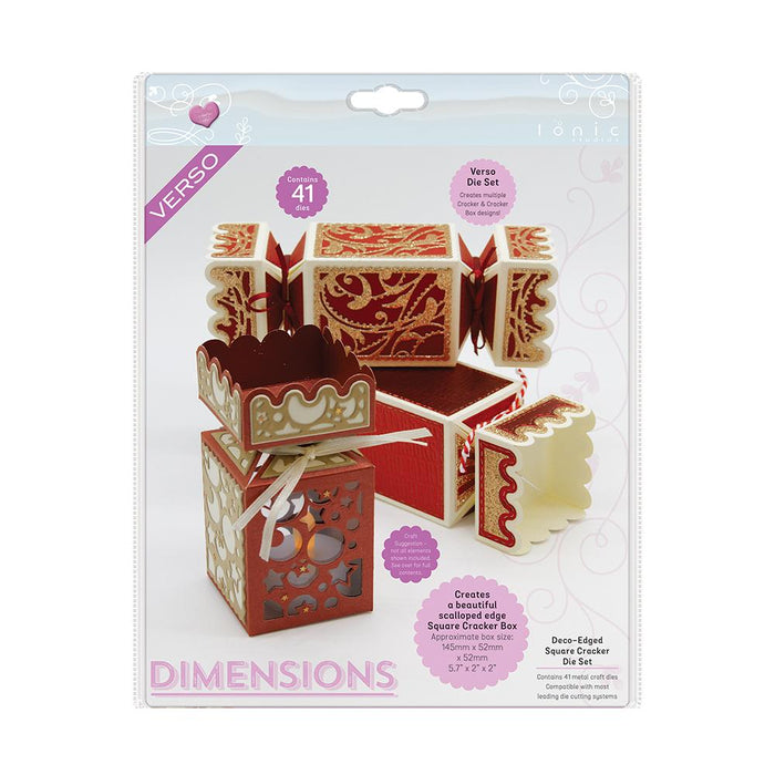 Tonic Studios Dimensions Tonic Studios - Dimensions - Deco-Edged Square Cracker Die Set - 2756E