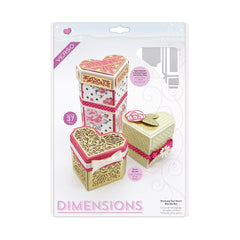 Tonic Studios Dimensions Tonic Studios - Dimensions - Diamond Cut Heart Box Die Set - 2549E