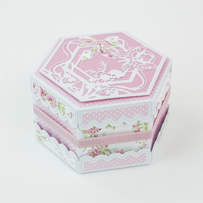 Tonic Studios Dimensions Tonic Studios - Secret Spring - Hexagon Kaleidoscope Box Die Set - 1904e