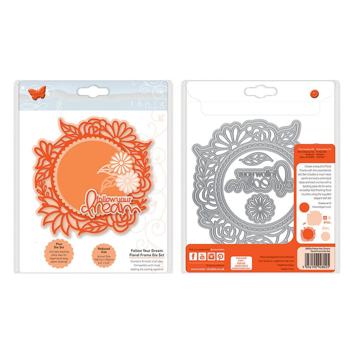 Tonic Studios Essentials Tonic Studios - Essentials - Follow Your Dream Floral Frame Die Set - 2802E