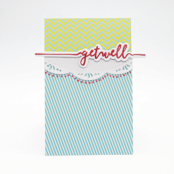 Tonic Studios Essentials Tonic Studios - Essentials - Get Well Sentiment Strip Die - 2587E