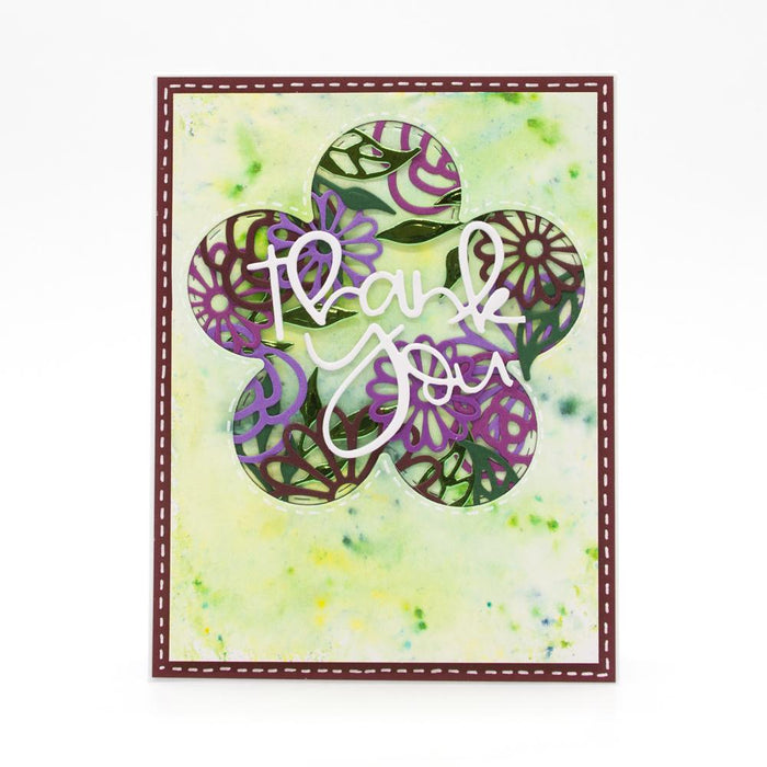 Tonic Studios Essentials Tonic Studios - Essentials - Hello Beautiful Floral Frame Die Set - 2803E