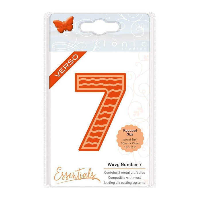 Tonic Studios Essentials Tonic Studios - Large Numbers - Wavey Number 7 Die Set - 1575e