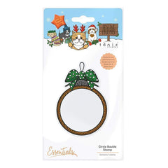 Tonic Studios Essentials Tonic Studios - Stamps - Festive Friends - Circle Bauble Stamp Set - 1816e