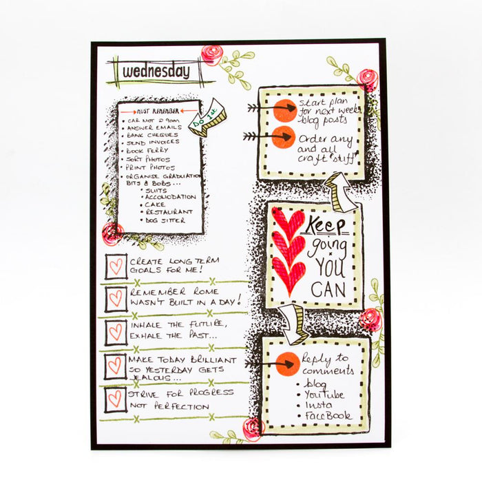 Tonic Studios Stamps Tonic Studios - Essentials - Journaling Diary Stamp Set - 2934E