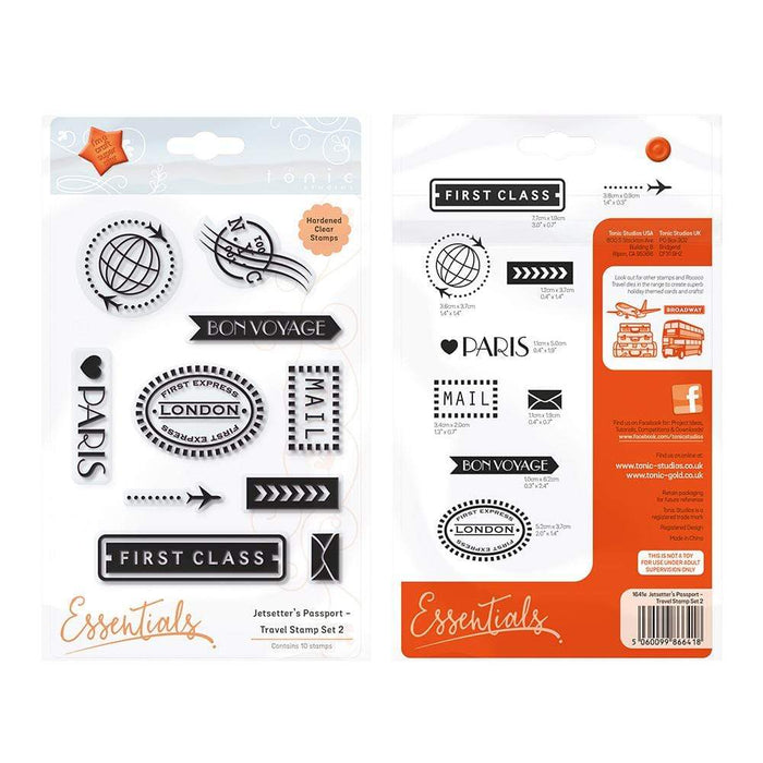 Tonic Studios Stamps Tonic Studios - Jetsetter's Passport - Travel Stamp Set 2 - 1641E