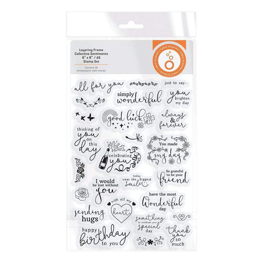 Tonic Studios Stamps Tonic Studios - Layering Frame Collective Sentiment Stamp Set - 3488E