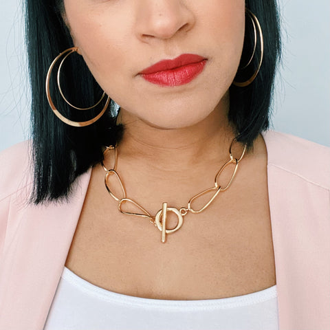 Gold Statement Chain Necklace