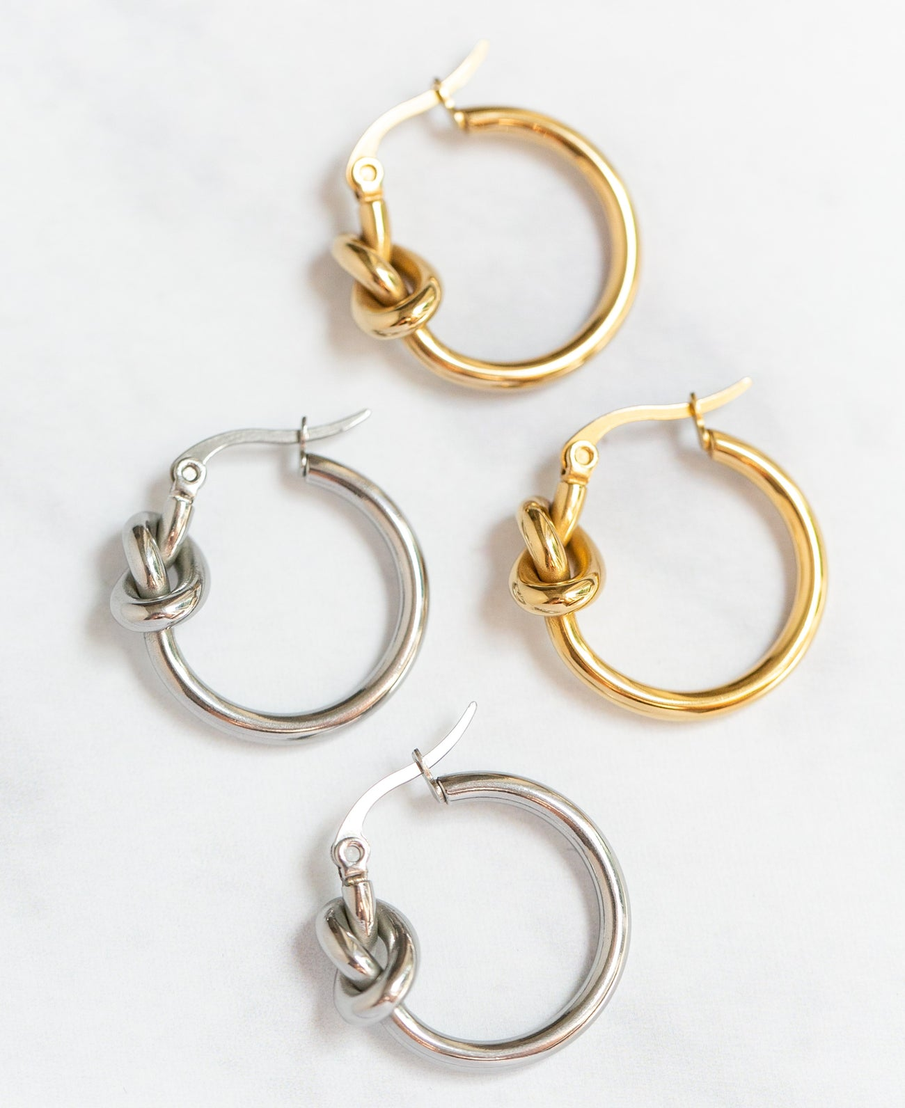 Midi Knot Hoop Earrings