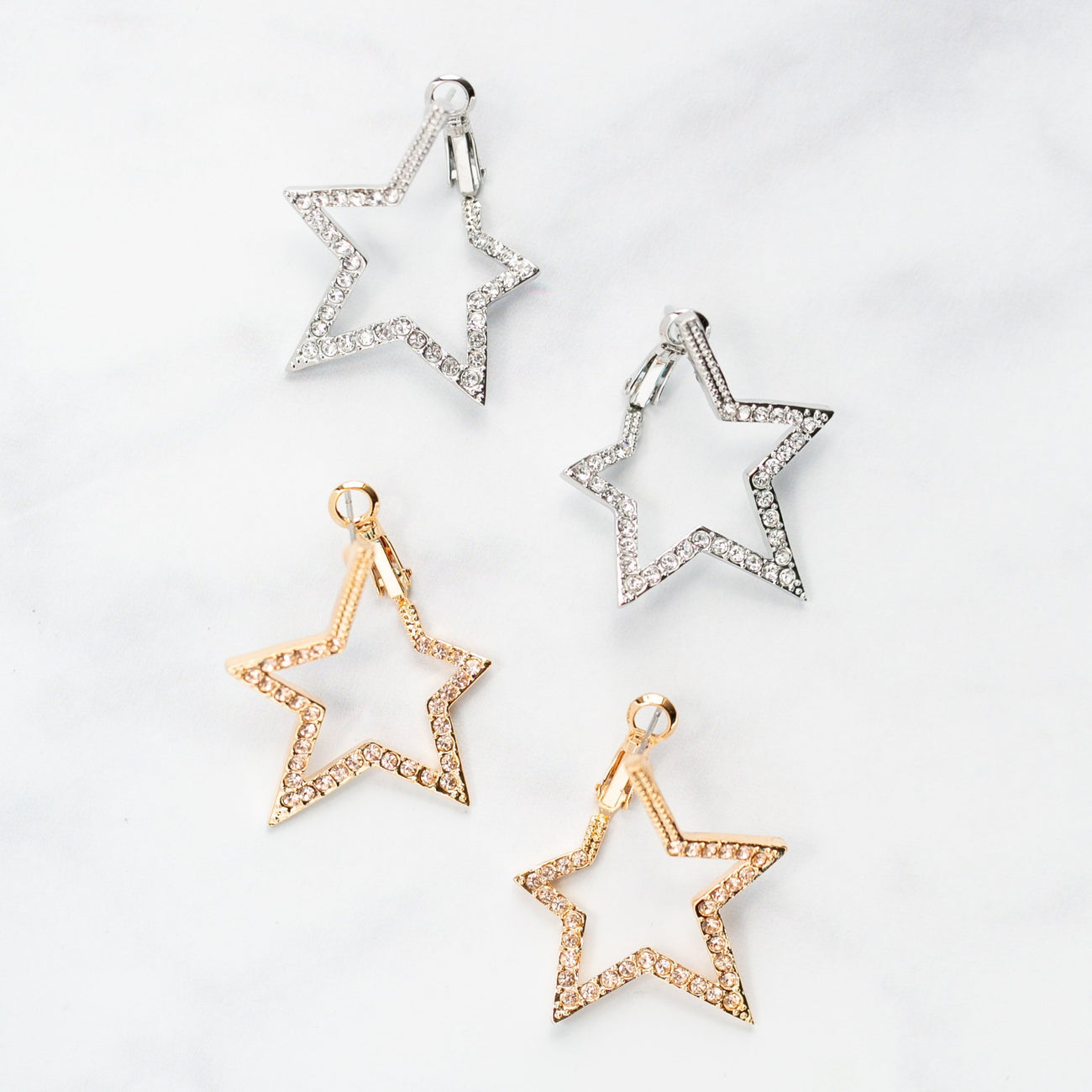 Champagne Star Earrings