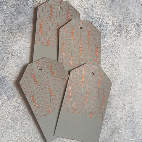 Grey Geometric Gift Tags