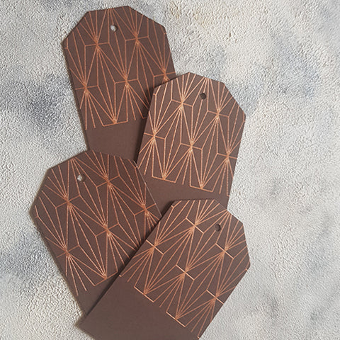 Brown Geometric Gift Tags