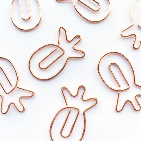 Pineapple Paper Clips Rose Gold