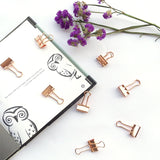 Rose Gold Solid Paper Binder Clips Small