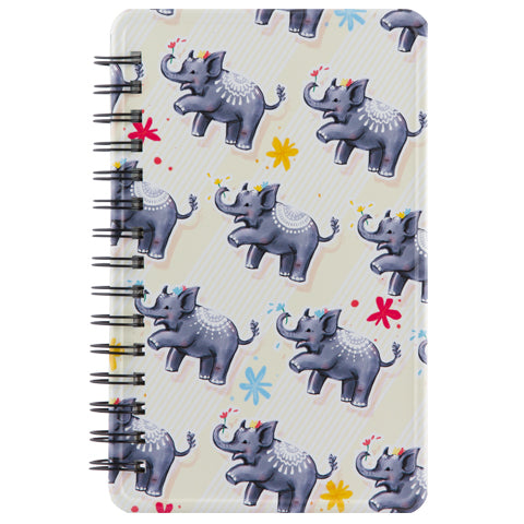 Happi Elephant Metal Journal