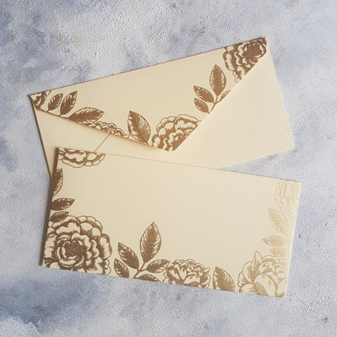 Beige Foral Money Envelope