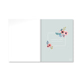 White Fantasy Floral A4 Notebook