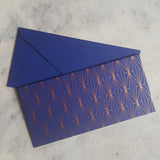 Blue Geometric Money Envelope