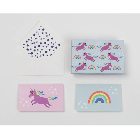 Rainbow Unicorn Notecard