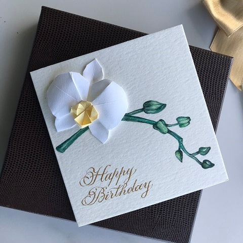 Happy Birthday Chic Handmade Greeting Card