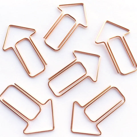 Arrow Paper Clips Rose Gold