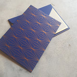 Blue Geometric Notecards