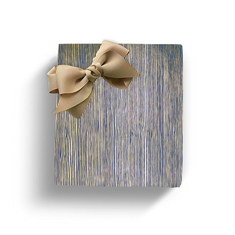Stripe Up- Blue Wrapping Paper