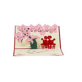 Couple Under Cherry Blossom Tree Pop Greeting Card