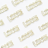 Paper clips-LOVE Paper Clips | Gold | Set of 4